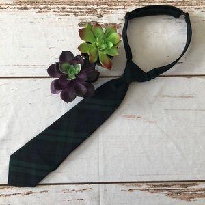 ⚡️Boys black watch plaid adjustable tie